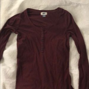 Old Navy Long Sleeved 6 button Henley